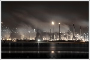 """Grangemouth by Night"" by Bryan Burke"