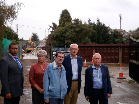 Local Cllrs and MP at Waste 4 Fuel site